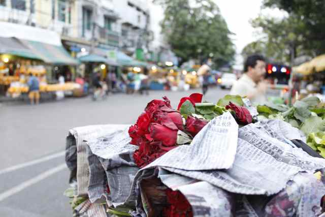 Hitting the flower market in Bangkok Thailand